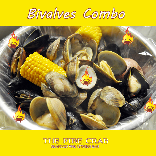 Clams Mussels Bivalves Combo Cajun Garden Grove OC Orange County Fire Crab Seafood
