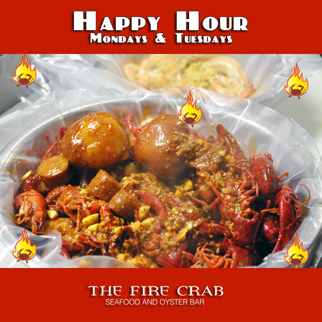 Happy Hour All Day Mondays Tuesdays Garden Grove Orange County OC Fire Crab