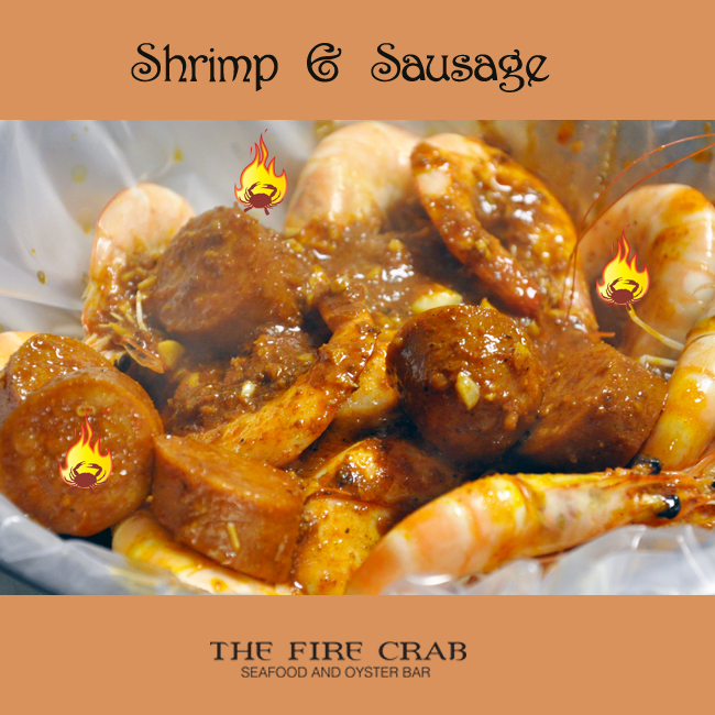 Shrimp Sausage Cajun Combo Yummy Orange County OC Fire Crab Garden Grove