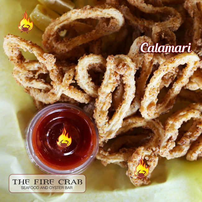 Calamari Orange County OC Cajun Seafood Appetizer Battered Fried to Perfection Fire Crab