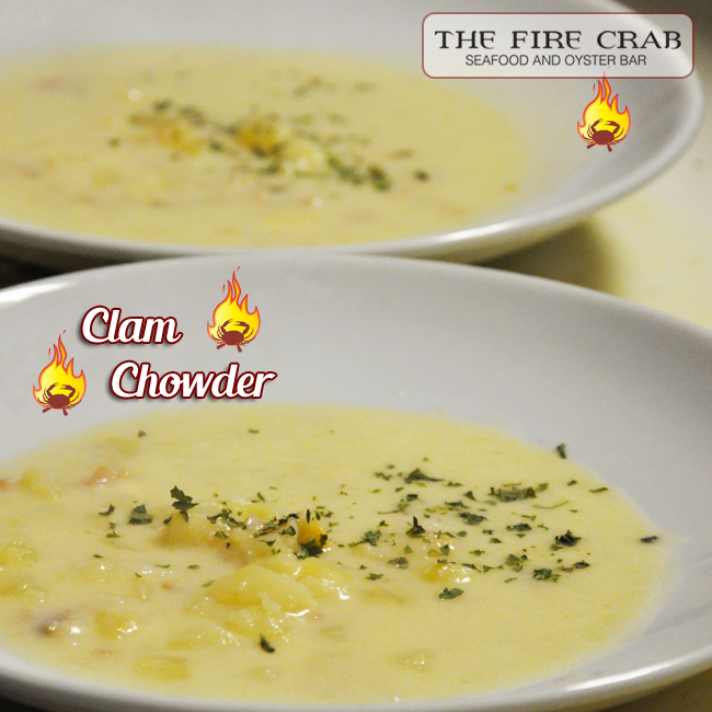 Clam Chowder Warm Soup Cajun Restaurant Cold Weather Orange County OC Garden Grove Fire Crab