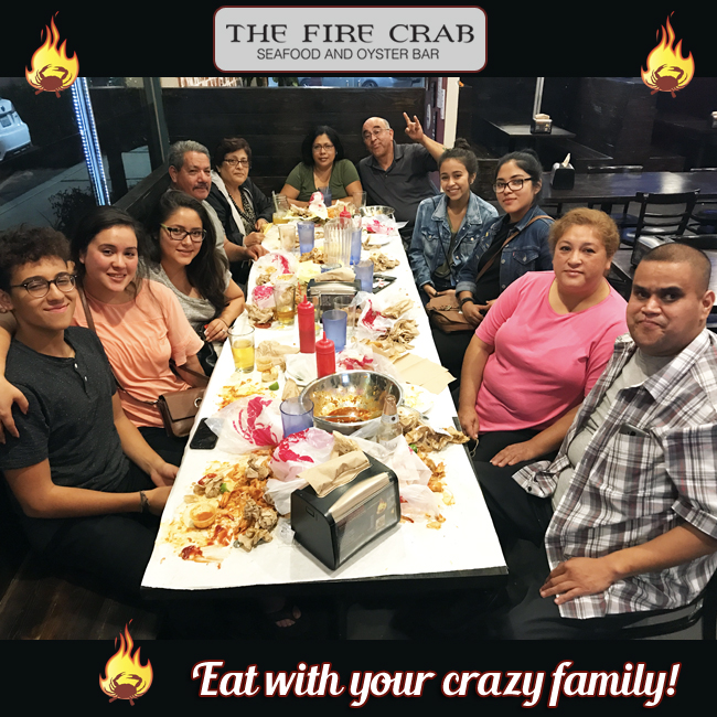 Eat with Your Crazy Family Fire Crab Orange County OC Garden Grove Large Party