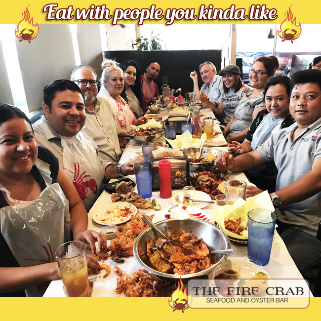 Eat With People You Kinda Like Friends Family Coworkers Enemies Orange County Fire Crab OC