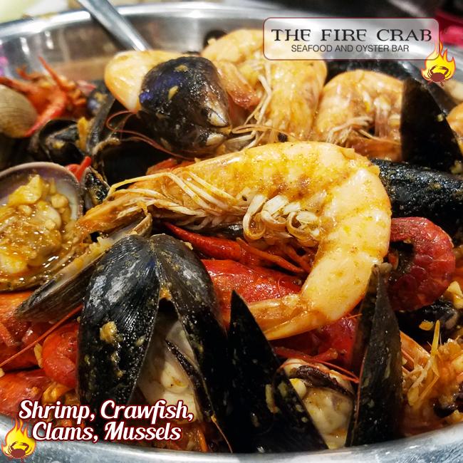 Seafood Orgy Combo Clams Shrimp Crawfish Orange County OC Fire Crab Garden Grove