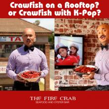 Crawfish on Rooftop with K-Pop Garden Grove Orange County OC Fire Crab
