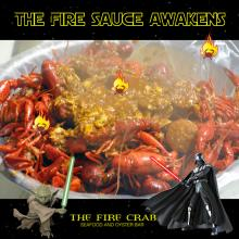 The Fire Sauce Awakens Star Wars Crawfish Combo Cajun Sausage Orange County OC