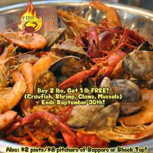 Fire Crab Garden Grove Crawfish Clams Shrimp Mussels Grand Opening Special