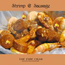Shrimp Sausage Cajun Combo Yummy Orange County OC Fire Crab Garden Grove