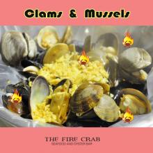 Clams Mussels Garlic Butter Sauce Lemon Pepper Cajun Choices Fire Crab Orange County OC