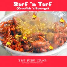 Cajun Surf n Turf Live Crawfish Sausage Orange County Fire Crab Garden Grove OC