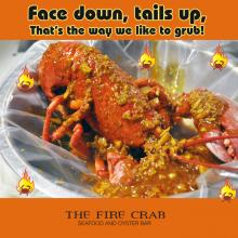 Lobster Cajun Garden Grove Orange County OC Fire Crab Face Down Tails Up