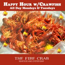 Live Crawfish Orange County OC Happy Hour Combo Deals Cajun Grub Fire Crab Garden Grove