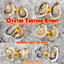 Oyster Tasting Foodie Event Orange County OC Fire Crab Garden Grove