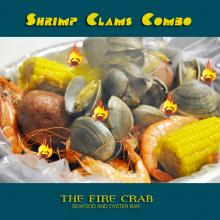 Shrimp Clams Combo Potatoes Corn Cajun Sauce Orange County Seafood OC Fire Crab