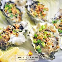 Baked Oysters Peanuts 'n Chives Appetizers Cajun Orange County OC Garden Grove Fire Crab