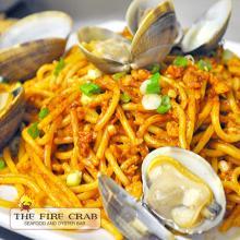 Cajun Garlic Noodles with Clams Green Onions Garden Grove Fire Crab OC Orange County
