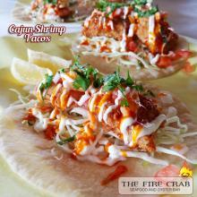 Cajun Shrimp Tacos Sauce Cabbage Lemon Cilantro Orange County OC Fire Crab