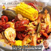 Live Crawfish Shrimp Clams Cajun Combo Seafood Garden Grove Orange County OC Fire Crab
