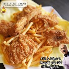 Fish 'n Chips Sweet Potato Fries Garden Grove Cajun Restaurant OC Orange County Fire Crab