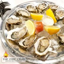 Orange County Fresh Oysters Fanny Bay Kumamoto Dozen Sampler Platter Fire Crab OC