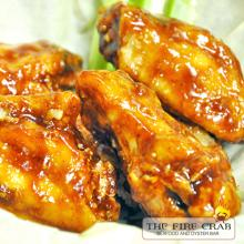 Honey BBQ Barbecue Wings Yummy Sweet Sauce Orange County OC Fire Crab