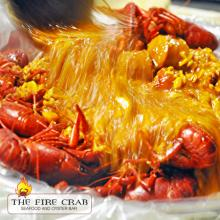Pour Fire Sauce Garlic Crawfish Live Garden Grove Orange County OC Fire Crab