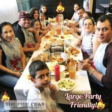 Large Party Friendly Birthday Celebration Reunion Gathering Family Big Tables Orange County OC Fire Crab