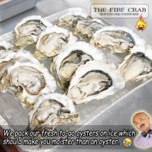 Fresh Oysters to Go Orange County OC Seafood Fire Crab Garden Grove