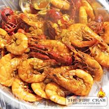 Orange County Cajun Restaurant Fire Crab Crawfish Shrimp Fire Sauce Garlic